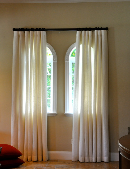 Window treatments miami new york contemporary Contemporary drapes window treatments