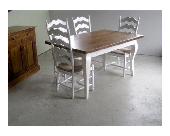 Swedish Ladder Back Style Dining Chairs - Made by http://www.ecustomfinishes.com