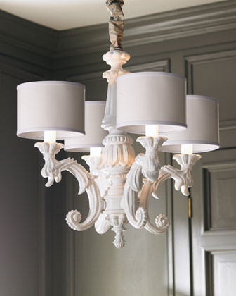 White Baroque Chandelier traditional-chandeliers