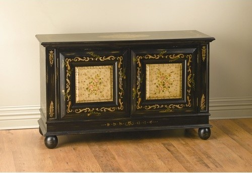 Two Door Sideboard in Black modern-buffets-and-sideboards