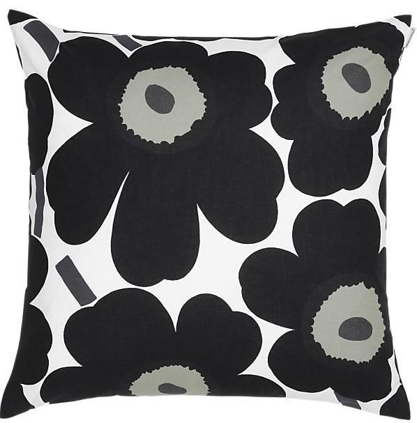 Marimekko Pieni Unikko Black 20-inch Pillow contemporary-decorative-pillows