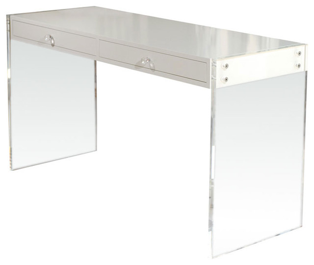 Ceiling Fans Houston Custom Lucite Lacquered Desk - Modern - Desks And Hutches ...