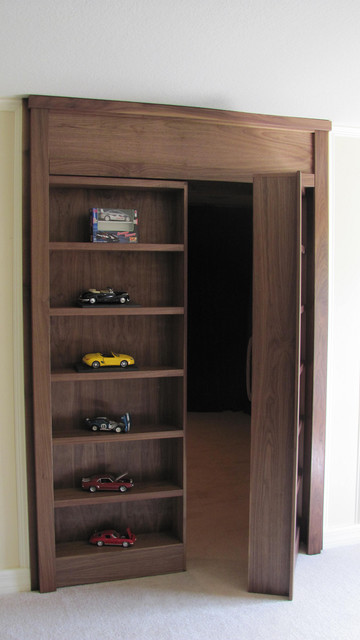 Cabinet With Secret Doorway To Hidden Room - Contemporary - Display And Wall Shelves - tampa ...