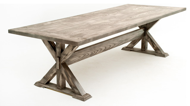 Reclaimed Wood Trestle Dining Table Rustic Dining Tables Other