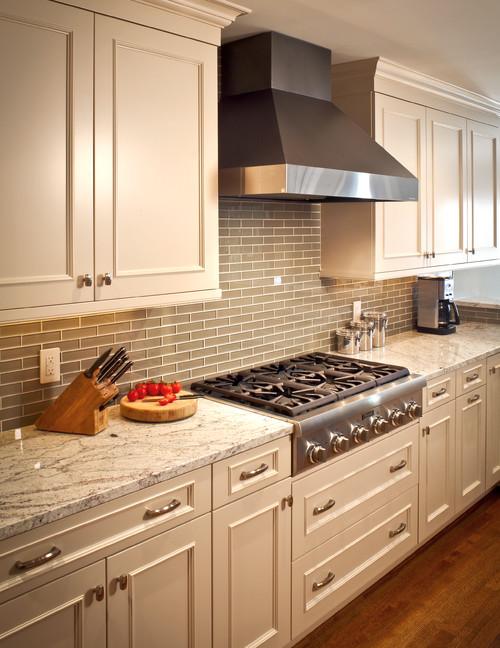 Bianco Romano Granite White Cabinets Backsplash Ideas