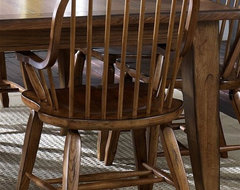 Treasures Arm Chair in Rustic Oak Finish traditional-dining-chairs