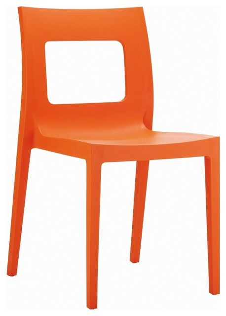 Lucca Dining Chair Orange Modern Dining Chairs By Contemporary Furnitur