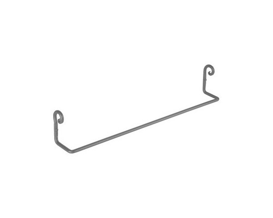 Black Wrought Iron Towel Bar Pigtail 24 1/4'' L - Towel Bar Pigtail: Protected by RSF Black finish, this towel bar is wonderfully designed for a great look. Shop online at rensup.com and get FREE complimentary shipping for orders over $125.