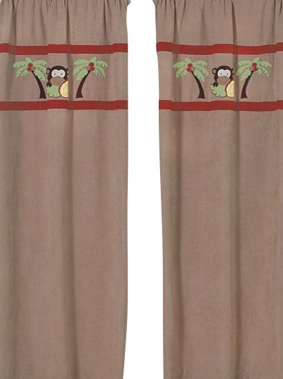 Monkey Window Panels (Set of 2) contemporary-curtains