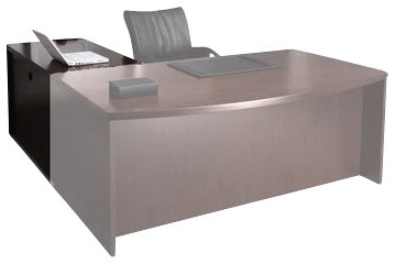 "Mayline Mira 36"" Non Handed Return-Espresso Veneer transitional-desks"