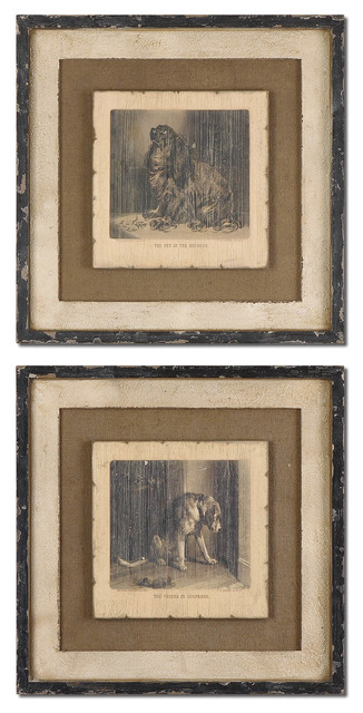 Loyal Companion Vintage Art Set of 2 traditional-artwork
