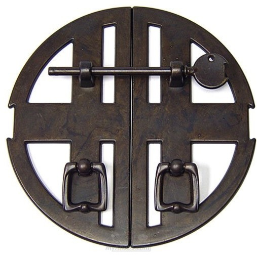 Old World Classic Hardware Pull - Asian Set of 2 Pulls in Oil Rubbed Bronze - Cabinet And Drawer ...