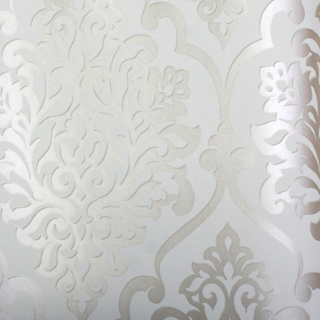 gallery for silver damask wallpaper