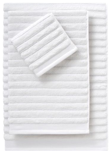 Rayon Bamboo Channel Bath Towels modern-bath-towels