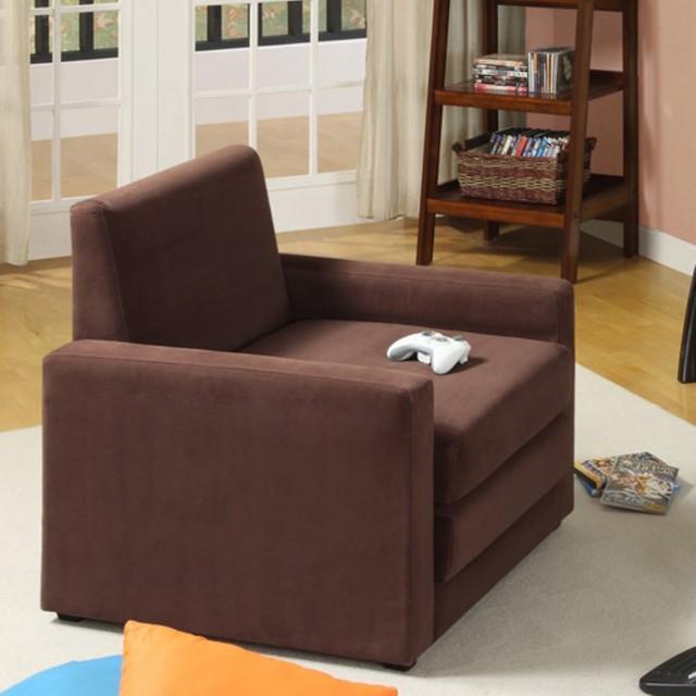 Dorel Single Sleeper Chair Brown Traditional Futons