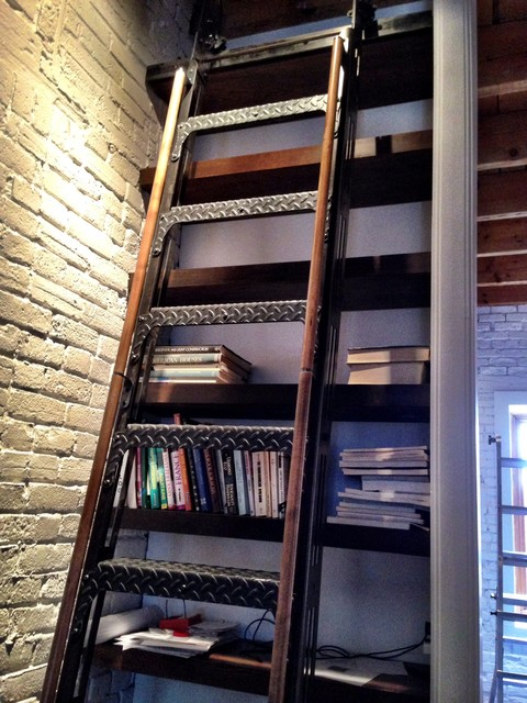 Custom Industrial Rolling Library Ladder Industrial