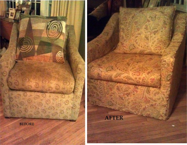 Slipcover traditional upholstery fabric