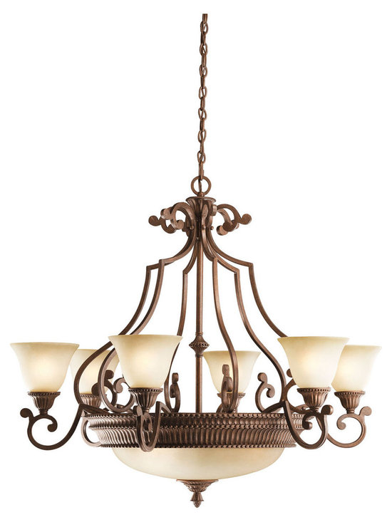 Grandiose Chandeliers - Larissa - Chandelier 6Lt w/3Lt Center