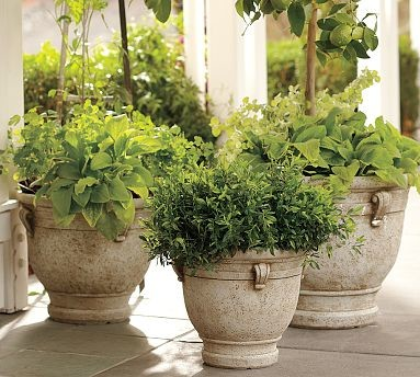 Brittany Cast Stone Planter Large Traditional Indoor
