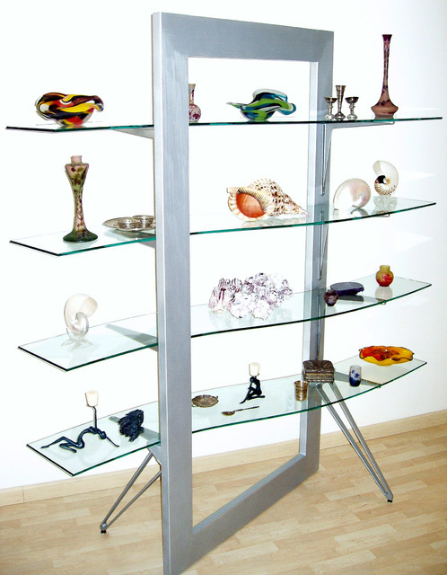 Flexam-Glass shelves contemporary-storage-units-and-cabinets