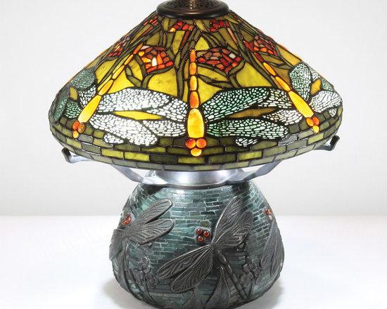 The Secret Garden (TSG 1895 USA) - United Arts Center Gallery - Gemstone Tiffany-Style Lampshade: