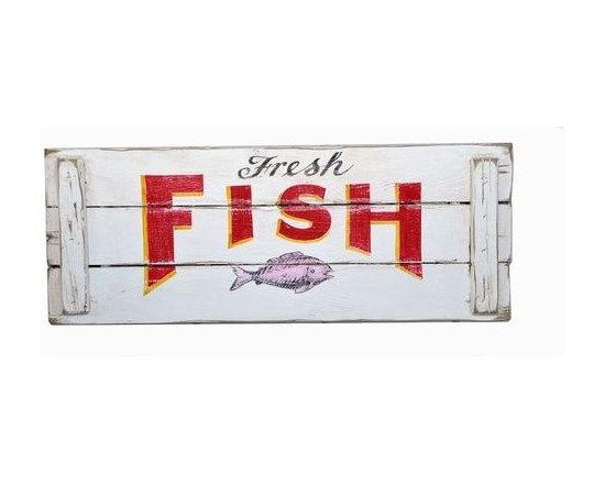 Fresh Fish Crate Wood Sign -