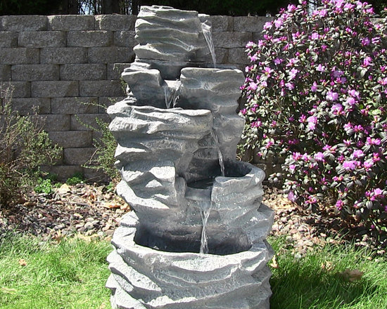 Outdoor Classics 5-Level Rock Pond Fountain -