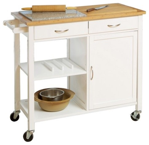 Duel Top Kitchen Island Contemporary Kitchen Islands And Kitchen Carts