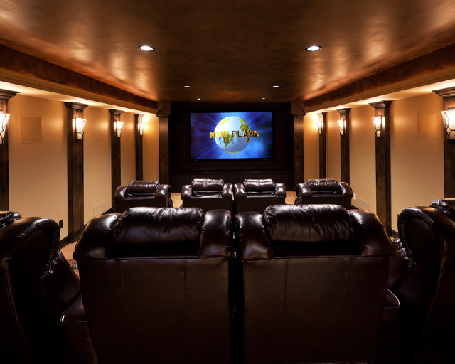 Great Room traditional-home-theater