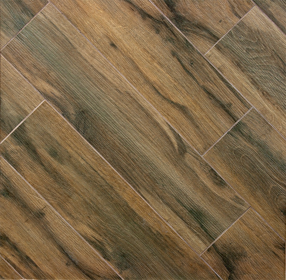 Botanica Cashew Wood Plank Porcelain Modern Wall And