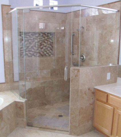 Custom Bath And Shower Remodel Modern Tile Phoenix By Kitchen