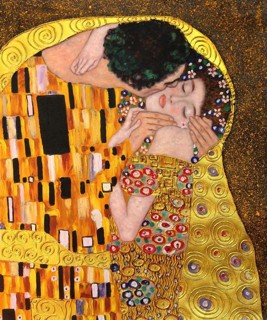 Klimt - The Kiss Oil Painting (Luxury Line) modern-artwork