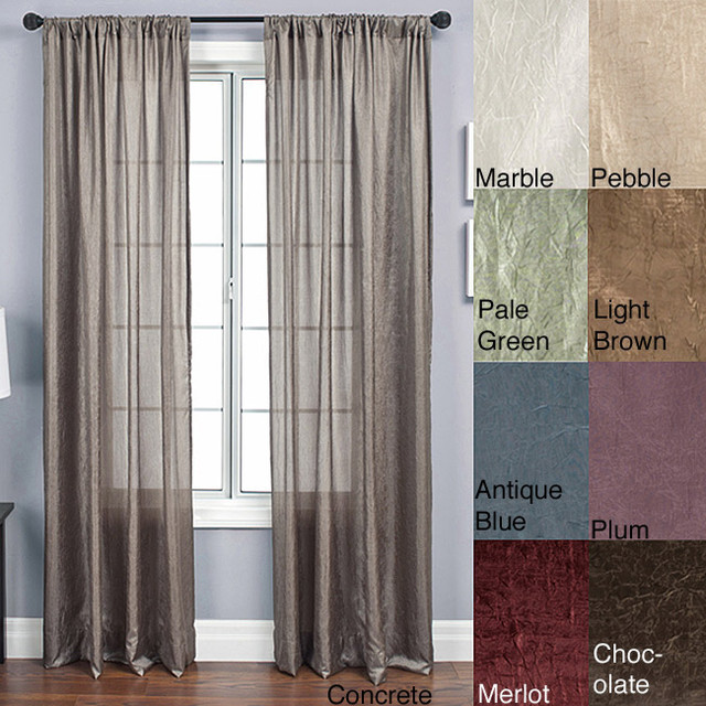 anya rod pocket 96 inch panel contemporary curtains