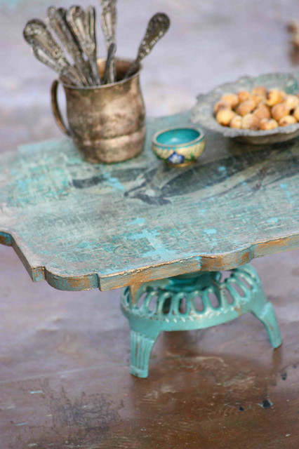 Woodland Keepers Cake Stand by Patina Vie eclectic-serveware