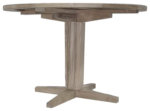 Teak Pedestal Table Base Table Tops And Bases  : outdoor dining tables from www.houzz.com size 640 x 474 jpeg 26kB
