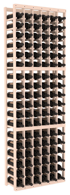 6 Column Standard Wine Cellar Kit in Pine, White Wash contemporary-wine-racks