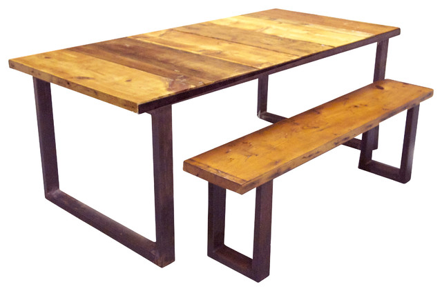 Industrial Dining Table and Bench Industrial Dining  : industrial dining tables from www.houzz.com size 640 x 422 jpeg 51kB