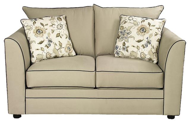 Barcelona Twin Sleeper Sofa, Belsire Honey, Twin Sleeper, Air Dreamsleeper Mattr contemporary-futons