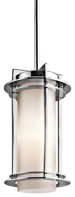 """Contemporary Kichler Pacific Edge 11 1/2"""" Steel Outdoor Hanging Light contemporary-outdoor-lighting"""