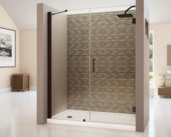 "DreamLine Unidoor 53"" - 54"" Frameless Shower Door With 30"" Stationary Panel SHDR - DreamLine™ UNIDOOR is the only door you will ever need to complete an unforgettable design of your shower project. The UNIDOOR shower door collection has an opening door range from 23"" up to 61"", and can be reversed for either left-wall or right-wall installation. The 3/8"" heavy glass and the frameless design supported by solid brass self-closing hinges delivers the look of an expensive custom glass door at a fraction of the high custom price"