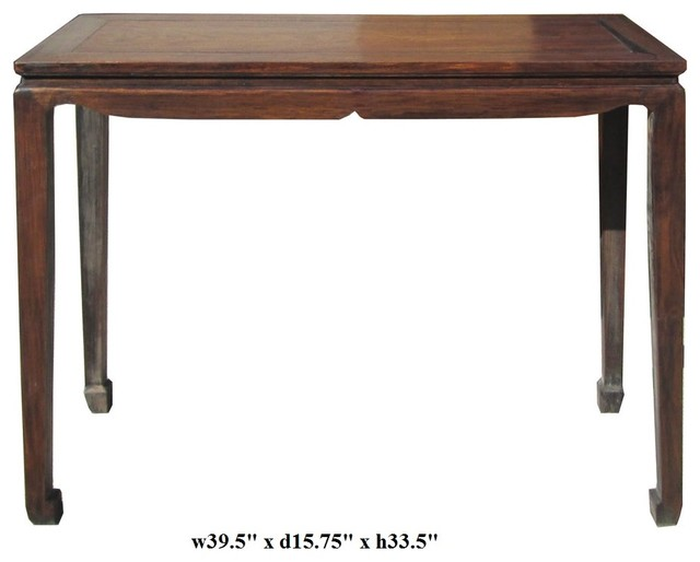 Chinese Rosewood Simple Plain Altar Table traditional-side-tables-and-end-tables