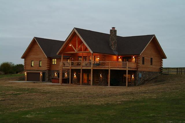 Custom Log Home traditional