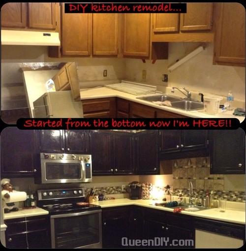 DIY Kitchen Renovation: Goodbye Honey Oak Cabinets