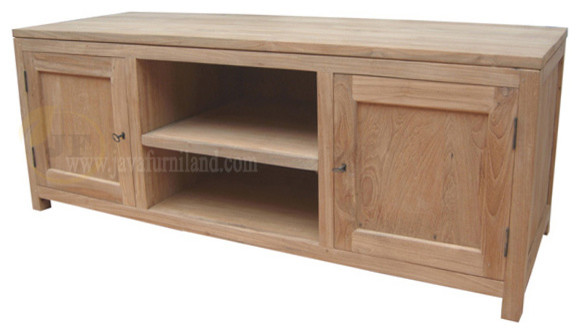 Solid Teak Wood TV stand contemporary-buffets-and-sideboards