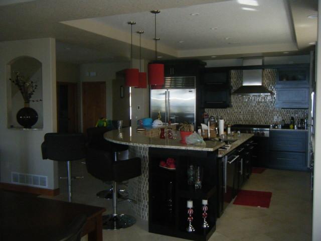 Lake Home 2 contemporary-kitchen