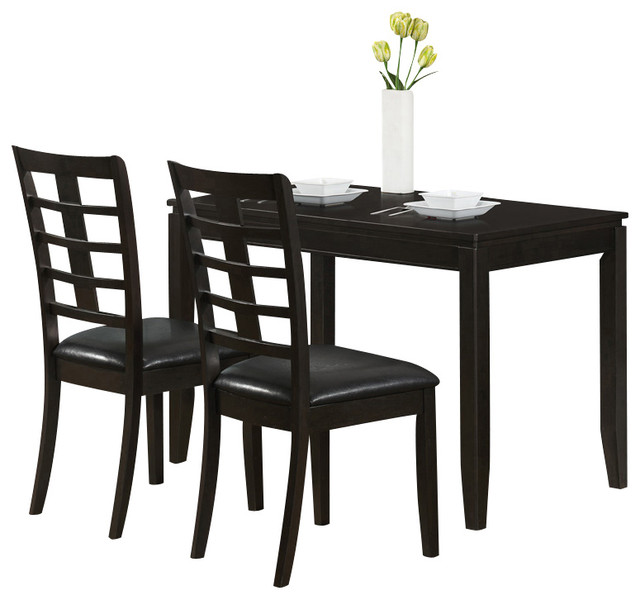 Monarch Specialties 1965 Rectangular 3 Piece Space Saver. Cheap Space  Saving Dining Table ...