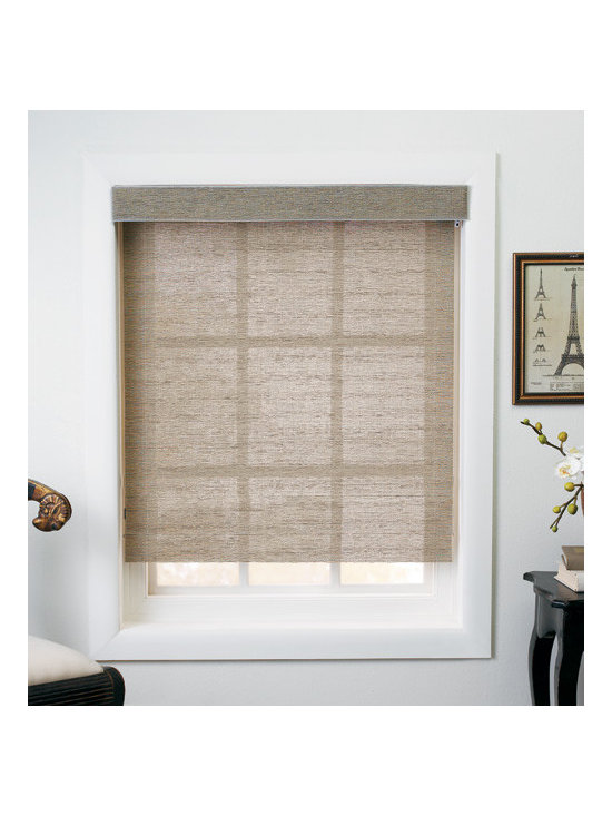 Levolor - Levolor Roller Shades: Tweed Rattan - Levolor Roller Shades offer contemporary yet classic style and easy operation.  The Tweed Rattan fabric collection features a natural woven fabric rustic look.