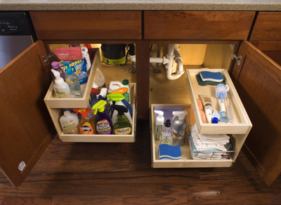 Kitchen Cabinets upgrade to Glide-Outs contemporary