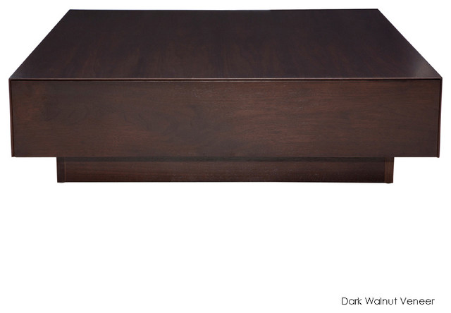 Dumas Coffee Table Dark Walnut Veneer Modern Coffee Tables By Inmod