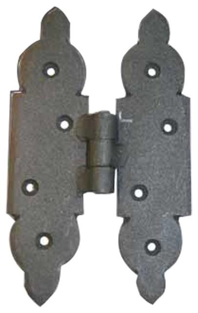 Cabinet hinges black iron cabinet h hinge 5 1 8 h x 3 1 8 for Black hinges for kitchen cabinets